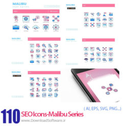 دانلود 110 آیکون سئو و بهینه سازی سایت سری مالیبو