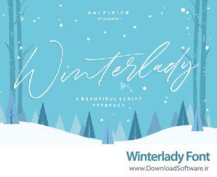 دانلود فونت جذاب و زیبای انگلیسی Winterlady