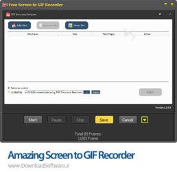 دانلود Amazing Screen to GIF Recorder نرم افزار ضبط صفحه نمایش با فرمت GIF