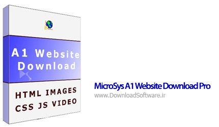 دانلود MicroSys A1 Website Download Pro نرم افزار دانلود کامل یک وب سایت