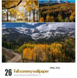دانلود تصویر زمینه مناظر پاییزی با کیفیت بالا