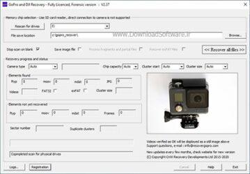 دانلود GoPro Recovery نرم افزار ریکاوری تصاویر برای کامپیوتر