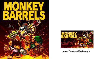 دانلود Monkey Barrels بازی جنگ میمون ها برای پلتفرم کامپیوتر